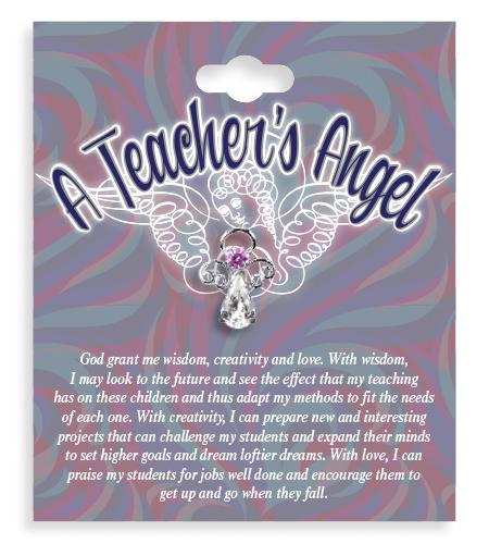 A Teachers Angel Lapel Pin
