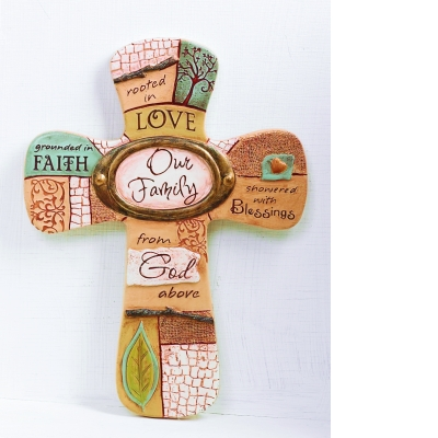 6 X 8in Our Family Wall Cross Boxed