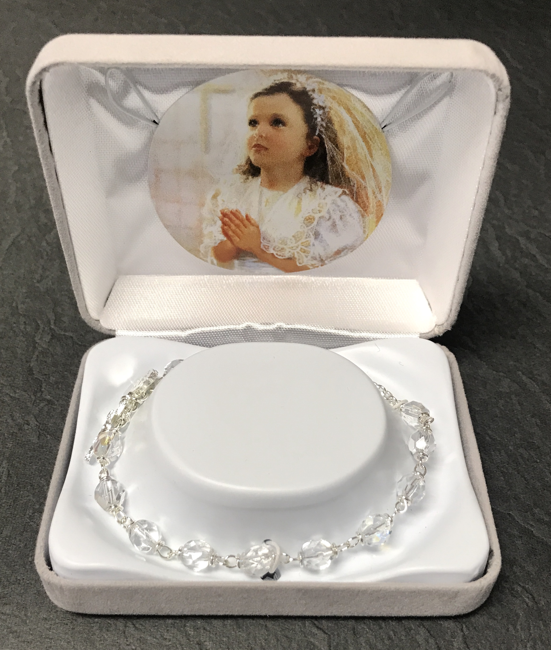 6mm CRYSTAL AB FC BRACELET GIFT BOXED