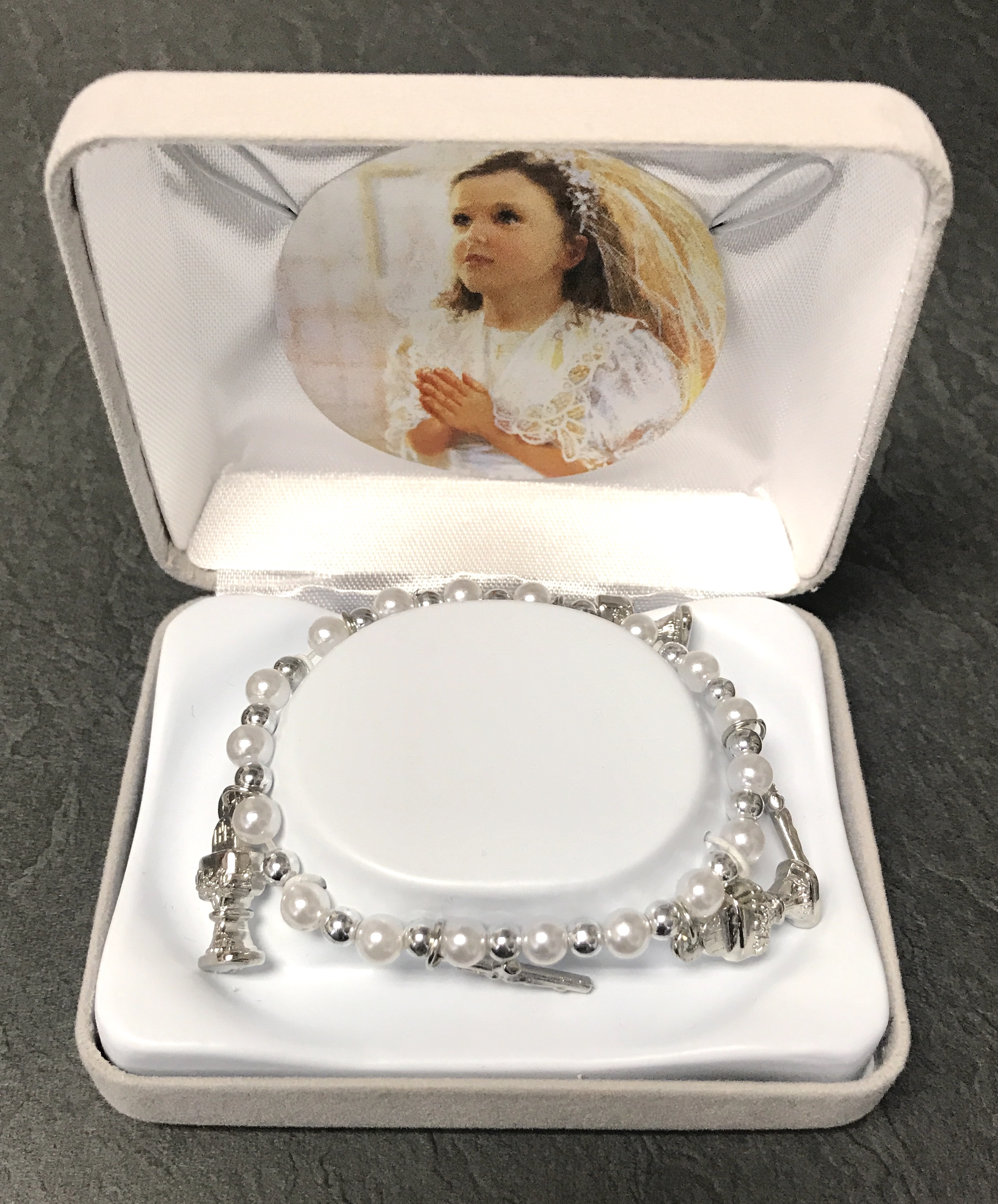PEARL/SILVER FC BRACELET GIFT BOXED