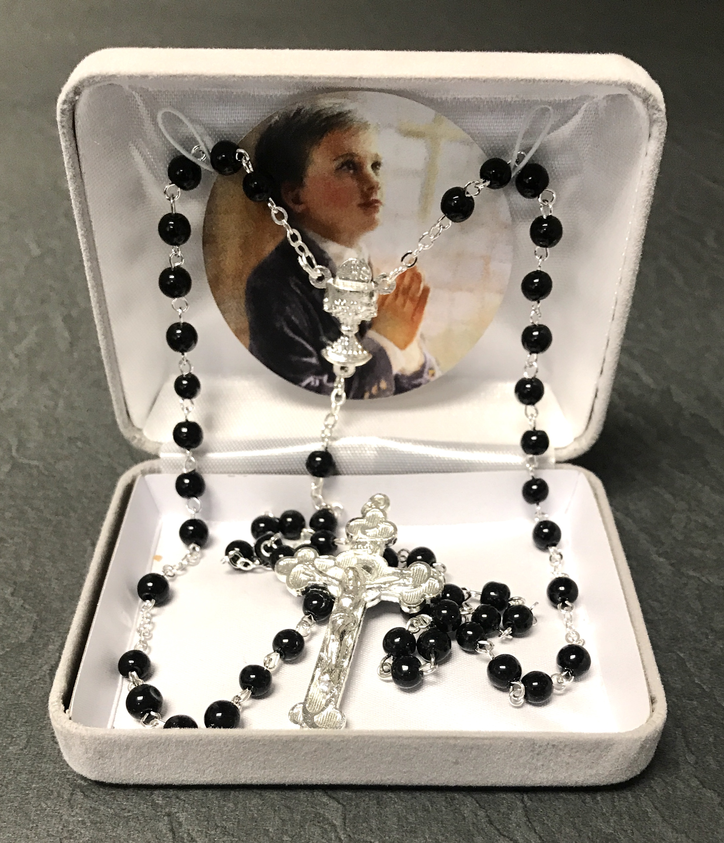 BLACK FC ROSARY GIFT BOXED