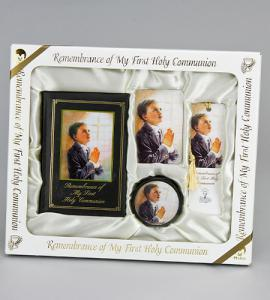 Marian Children's Mass Book KATHY FINCHER BLESSINGS DELUXE FIRST COMMUNION SET BOY