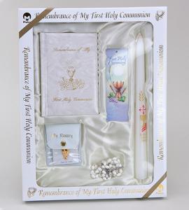Marian Children's Mass Book First Communion Deluxe Presentation Set Girl