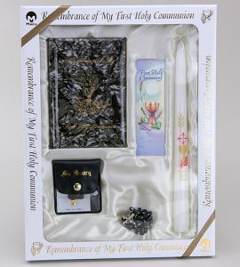 Marian Children's Mass Book First Communion Deluxe Presentation Set Boy