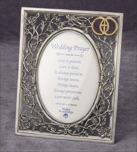5inx7in Pewter Wedding Frame