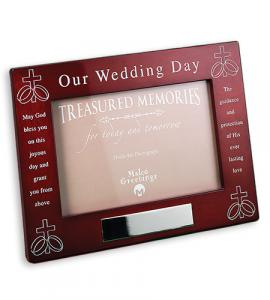 Lacquered Rosewood Wedding Frame