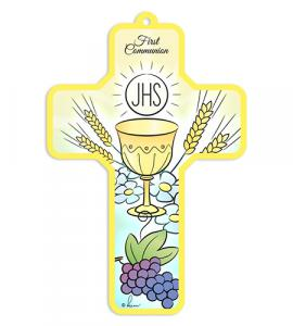 5in WOOD FIRST COMMUNION CROSS