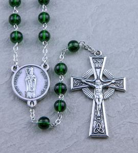 6mm EMERALD IRISH ROSARY