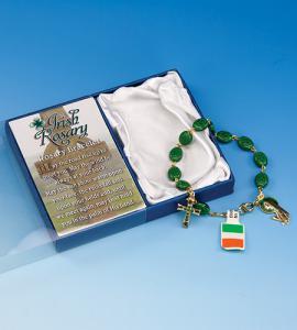 Shamrock Rosary Bracelet Boxed