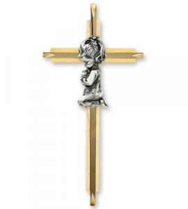 7 in Girl Oak Cross with Silver Corpus