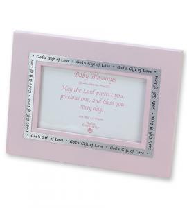 3x5 Gods Gift of Love Baby Girl Photo Frame