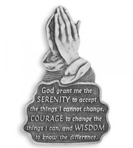 Serenity Prayer Auto Visor Clip