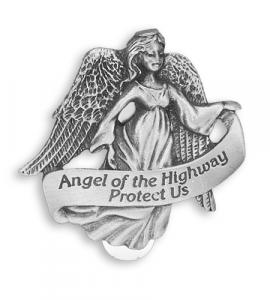 Angel Of The Highway Auto Visor Clip