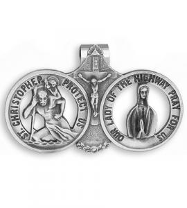 St. Christopher Our Lady Of The Highway Auto Visor Clip