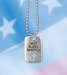 GOD BLESS AMERICA DOGTAG