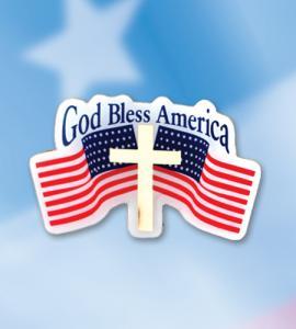 GOD BLESS AMERICA ENAMELED FLAG LAPEL PIN