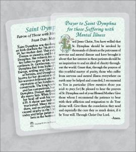 ST DYMPHNA/MENTAL ILLNESS LAMINATED HEALING PRAYER CARD