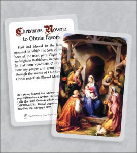 Christmas Novena Laminated Prayer Card