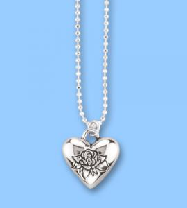Forever In My Heart Silver Heart Pendant