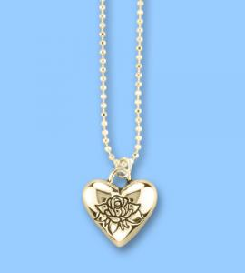 Forever In My Heart Gold Heart  Pendant