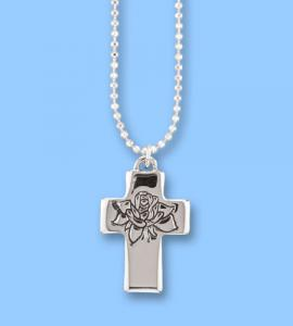 Forever In My Heart Silver Cross Pendant