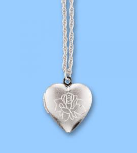 Forever In My Heart Silver Heart Locket Pendant