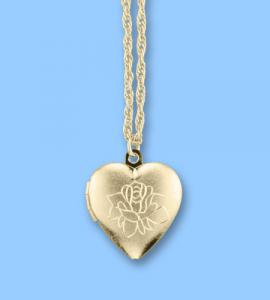 Forever In My Heart Gold Locket Pendant