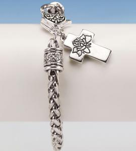 Forever In My Heart Cross Bracelet