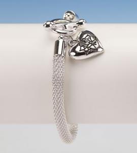 Forever In My Heart Silver Heart Bracelet