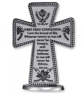 3in 1st Communion Stand Message Cross Gift Boxed