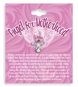 Angel For Motherhood Crystal Lapel Pin