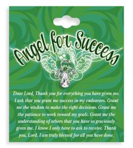 Angel For Success Crystal Lapel Pin
