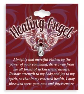 Healing Angel Crystal Lapel Pin