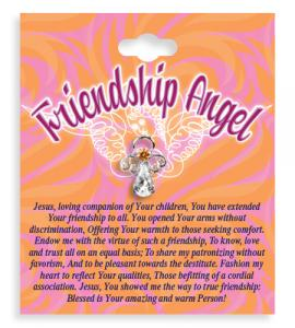 Friendship Angel Crystal Lapel Pin