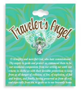 Travelers Angel Crystal Lapel Pin
