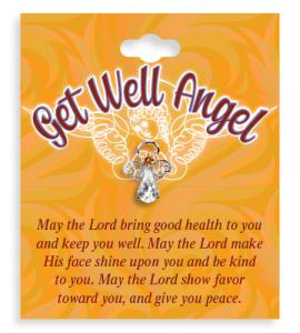 Get Well Angel Crystal Lapel Pin