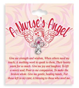 A Nurses Angel Crystal Lapel Pin