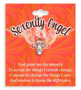 Serenity Angel Crystal Lapel Pin