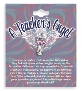 A Teachers Angel Lapel Pin