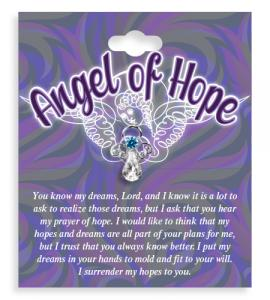 Angel of Hope Crystal Lapel Pin
