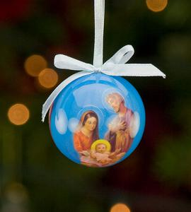 50 mm Holy Family Decoupage Ornament