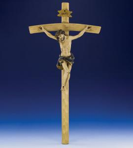 22 in Wood Carved Resin Crucifix