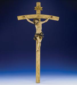 26 in Wood Carved Resin Crucifix