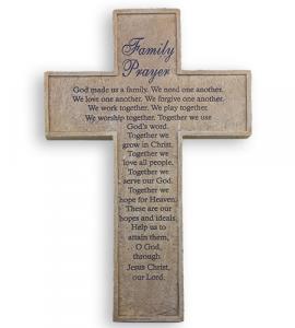 10in RESIN FAMILY PRAYER CROSS