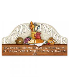 12in KITCHEN PRAYER WALL PLAQUE