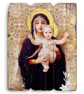 Madonna of the Lillies Wall Plaque