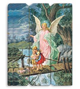 GUARDIAN ANGEL WOODEN PLAQUE