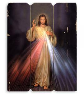 DIVINE MERCY WOODEN PLAQUE