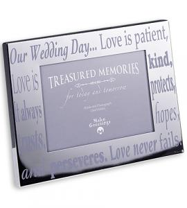 4 in x 6 in in Chrome Wedding Picture Frame