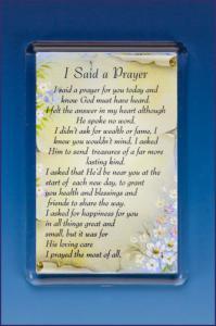 I SAID A PRAYER PHOTO FRAME    MAGNET